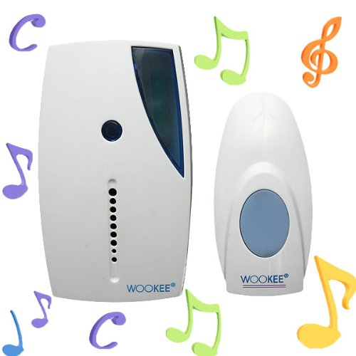 Mini Led Wireless Chime Door Bell Doorbell Ring + Remote Control 32 Tune Songs
