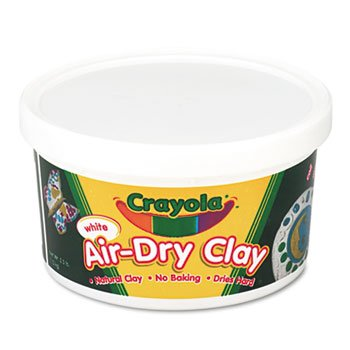 6 Pack Air-Dry Clay, White, 2 1/2 lbs by BINNEY & SMITH / CRAYOLA (Catalog Category: Paper, Pens & Desk Supplies / Art & Drafting / Clay & Accessories)
