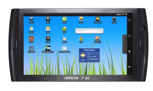Arnova 7 G2 Tablet  8GB, 17,8cm (7 Zoll) kapazitives Multitouch, Android 2.3, 1GHz, WiFi, 3Gfähig, microSDHC Slot, Webcam