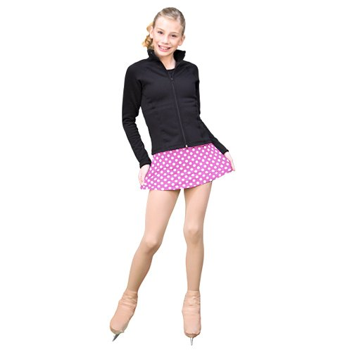 ChloeNoel Fuchsia Dots A Line Ice Skating Skirt Girl 4-12 Adult XS-L