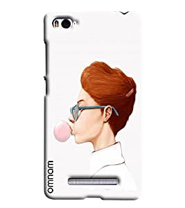 Omnam Girl Making Bubble Out Of Chewing Gum Printed Designer Back Cover Case For Xiaomi Mi4