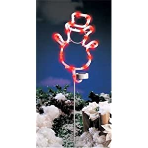 Click to read our review of Christmas Solar Lights: Solar Power Christmas Snowman Light