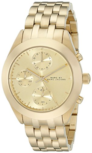 Marc Jacobs Women's 36mm Chronograph Gold Steel Bracelet & Case Watch MBM3393