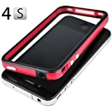 Red and Black Premium Bumper Case for Apple® iPhone® 4S / 4 - (AT&T, Verizon, Sprint)