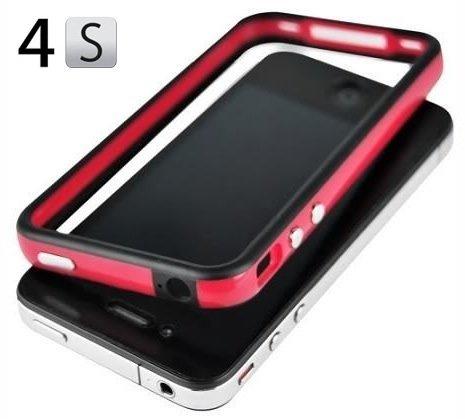 Red and Black Premium Bumper Case for Apple® iPhone® 4S / 4 - (AT&T, Verizon, Sprint) (Iphone 4s Bumper Black compare prices)