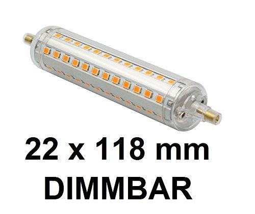 Dimmbare-10-Watt-LED-Stablampe-R7S-Warmwei-2700-Kelvin-360-Abstrahlung-118-mm-Lnge-22-mm-Durchmesser-100-Watt-Halogenstablampe