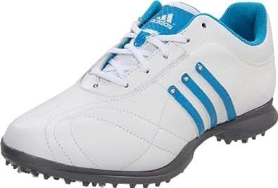adidas Women's Signature Natalie 2.0 Golf Shoe,White/White/Aquatic,10.5 M US