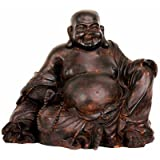 Oriental Furniture Good Great Best Original Unusual Special Gift Ideas Guys Men Him, 8-Inch Cast Resin Japanese Hotei Prosperity Buddha Statue