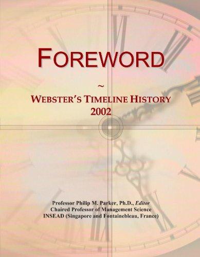 Foreword: Webster's Timeline History, 2002