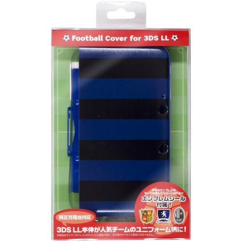 CYBER ・ フットボールカバー ( 3DS LL 用) ブラック×ブルー 【専用充電台 併用可能】