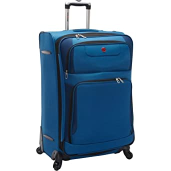 "SwissGear Travel Gear 28"" Expandable Spinner (Blue with Black)"