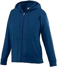 Augusta Sportswear Girls39 Wicking Fleece Full Zip Hooded Sweatshirt