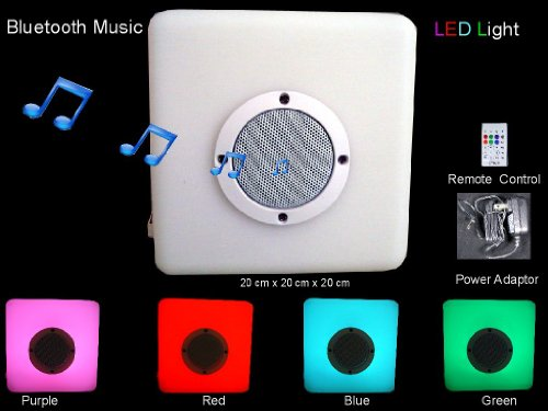 Led Cube With Multi-Color Changing Remote Control And Bluetooth Speaker,Waterproof By Ottavo