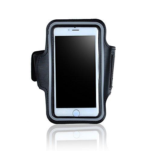 アイフォン6PLUS iPhone6PLUS 対応 スポーツ アームバンド(ブラック) ランニング・ジョギング スマホ ケース