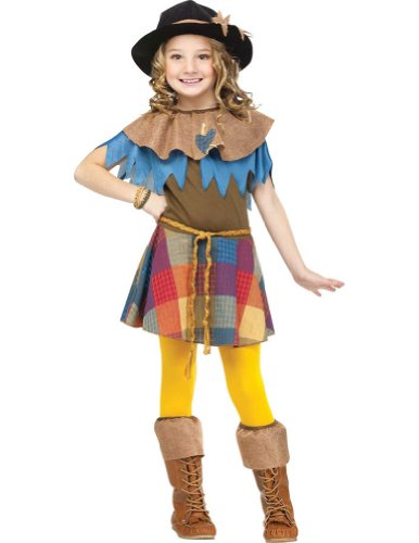 Scarecrow Child Costume 4-6 Kids Girls Costume