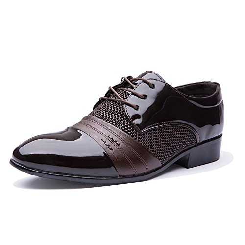 Blivener Men's Pointed Toe Pleather Dress Shoes Casual Oxford