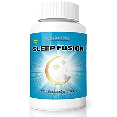 Sleep Fusion from Critical Nutrition is an All-Natural Sleep Aid Supplement Comes With Melatonin, Chamomile, Passion Flower, Vitamin B6 & Magnesium for Maximum Results (1 Month Supply)