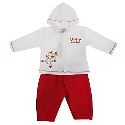 Baby Unisex Reindeer Design Two Piece Christmas Set