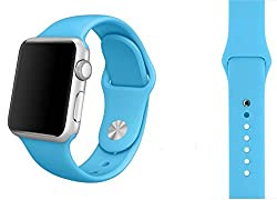 ProElite 42 mm Silicon Wrist Band Strap for Apple Watch - Sky Blue [*Watch NOT included*]