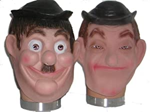 Laurel & Hardy Fancy Dress Costume Masks