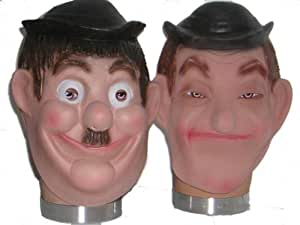 Laurel & Hardy Fancy Dress Costume Masks