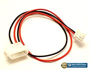 Micro SATA Cables - 4-Pin Molex to Floppy Drive 4-Pin Power Adapter Cable