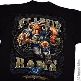 Buy St. Louis Rams Running Back T-Shirt by Liquid Blue - Size Medium by Liquid Blue