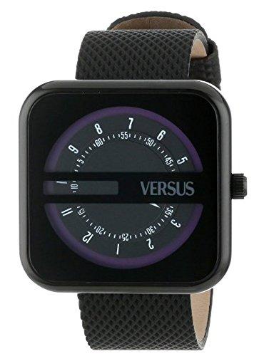 Versus - SGH01 - Kyoto - Montre Mixte - Quartz Analogique - Cadran Noir - Bracelet Caoutchouc Noir