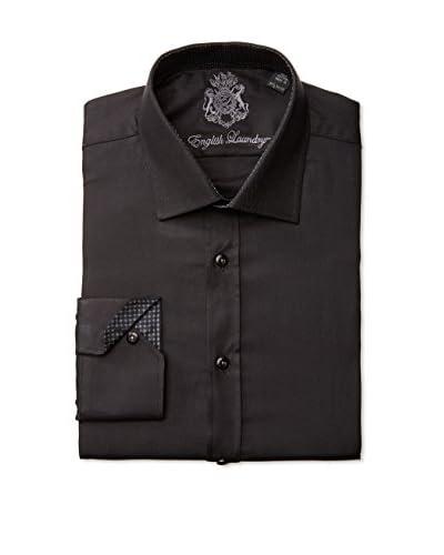 English Laundry Men's Textured Solid Dress Shirt