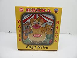Koska Turkish Wafer Halva, 6 Pieces, Kagit Helva