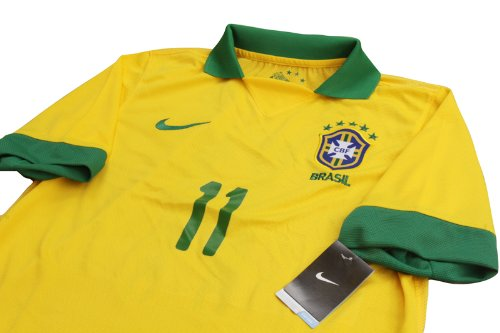 New 2013 Brazil Home Yellow Football Shirt NEYMAR #11 Soccer Jersey Brasil (US Medium)