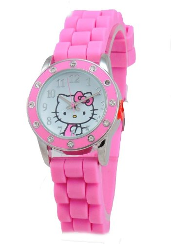 Hello Kitty HKAQ5379 Girls's Watch by Sanrio with Pink Silicon Band