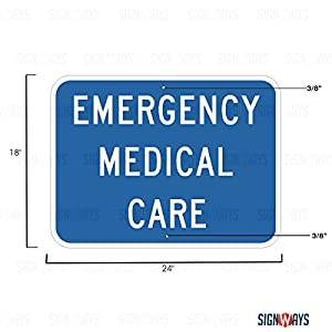 D9-13cP, Emergency Medical Services Sign, Emergency Room Signs, 24