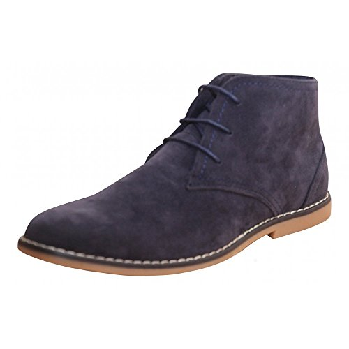 mens-new-black-beige-navy-blue-faux-suede-lace-up-desert-ankle-boots-shoes-9-uk-43-eu-navy