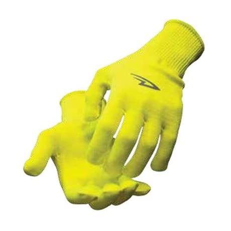 DeFeet HandSkins Hi Vis Yellow CoolMax Cycling/Running/Hiking Gloves - GHNY