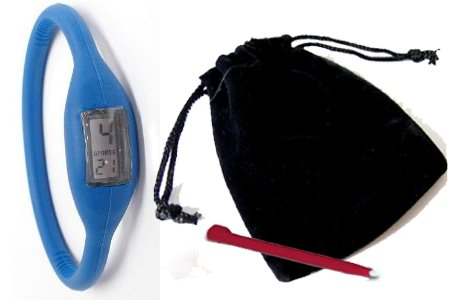 BLUE – Neg Ion Wave Silicone Sports Watch (FREE POUCH & TOOL) with comfortable band. Waterproof / water resistant. Ion wristwatch – negative ions Imazine w/ far infrared ray and minus ion emitted from tourmaline and minus ion power.