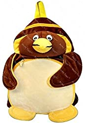 Richy Toys Penguin Cute Teddy Soft Toy School Bag for kids (Brown)