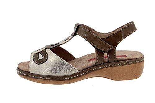 Scarpe donna comfort pelle Piesanto 4820 sandali soletta estraibile comfort larghezza speciale