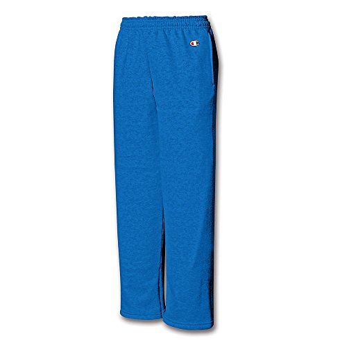 Champion Youth Double Dry Action Fleece Open Bottom Pant_Royal Blue_L (Champion Sports Bra Girls compare prices)