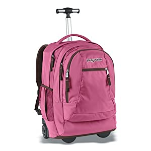 JanSport Driver 8 wheeled laptop suitcase (Pink Daiquiri) from JanSport