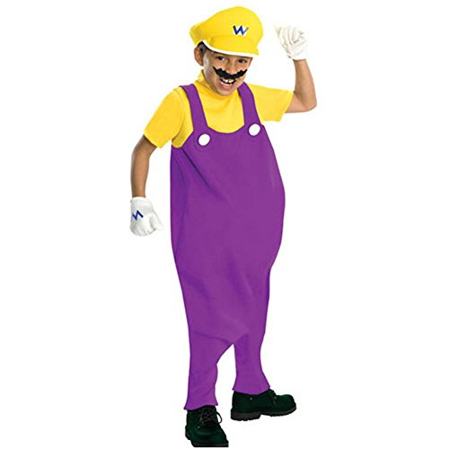 Super Mario Bros Wario Deluxe Kids Costume