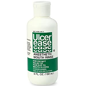 UlcerEase Anesthetic Mouth Rinse 6 Fl. Oz