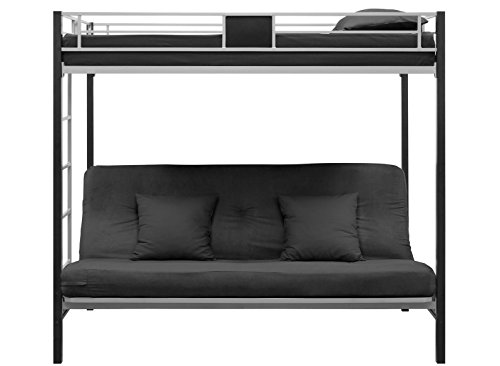 Dhp Screen Over Futon Metal Bunk Beds Silver Black Side