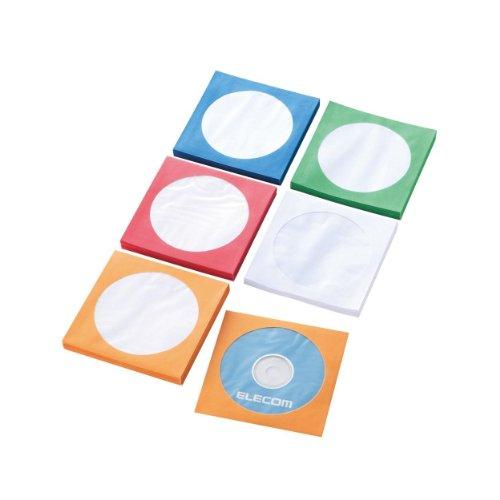 エレコム CD DVD ペーパーケース 5色セット 各20枚入り CCD-FT100