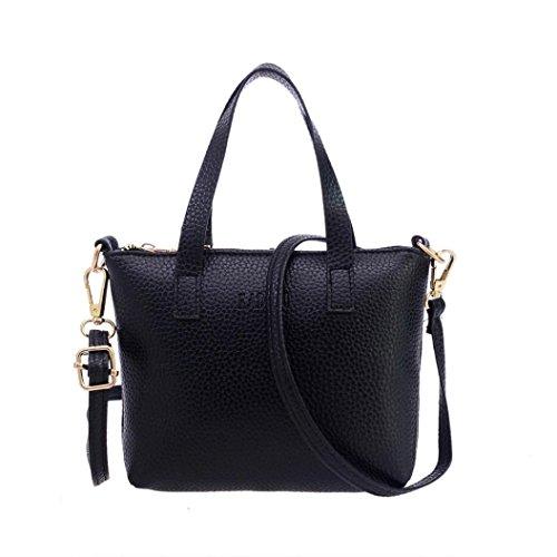 signora Tote borsa, Sharondar Donne moda Ladies Large a tracolla della borse (20cm*3.5cm*15cm, nero)