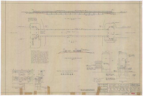 poster-a3-texas-bridge-including-side-elevation-plan-end-elevation-on-mainland-elevation-and-section