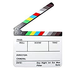 Acrylic Clapboard Dry Erase Director Film Movie Clapper Board Slate 9.6 * 11.7