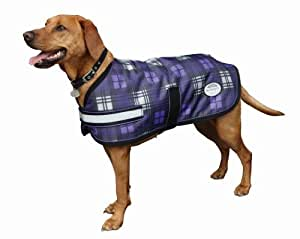 Weatherbeeta Parka 1200D Medium Dog Coat - 28 - Purple Plaid