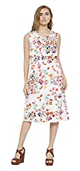 Sera Women's Dress (LA2262-Offwhite-M, Off-White, Medium)