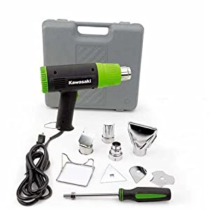 Kawasaki 840015 Black 10-Piece Heat Gun Kit